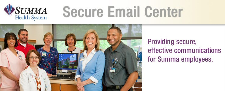 Summa Health System Secure Email Password Authorization